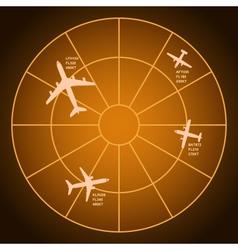 Air radar vector image
