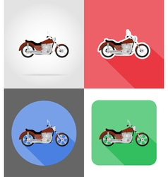transport flat icons 55 vector image vector image