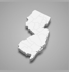3d map state united states vector