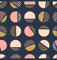 Abstract geometric seamless repeat pattern with vector