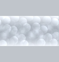 abstract gray bokeh banner in elegant style vector image