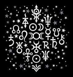 Astrological set 20 signs vector