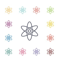 atom flat icons set vector image