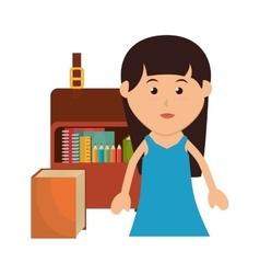 avatar kid school design vector image