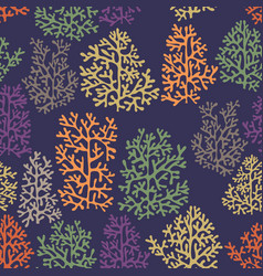 Background with stylized corals vector