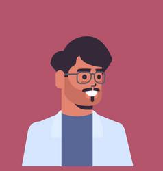 beautiful indian man wearing glasses looking vector image