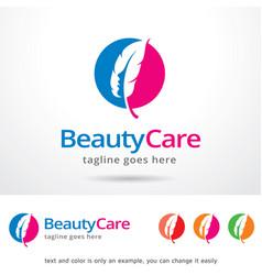 Beauty care logo template design vector