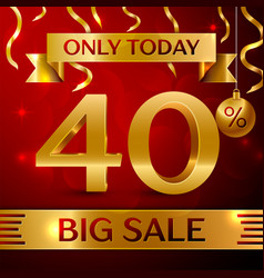 big sale forty percent for discount vector image