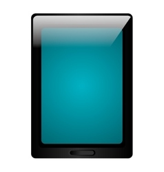 Black tablet electronic device icon vector image