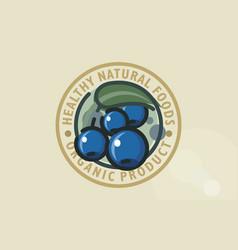 blueberry cornelian cherry vector image
