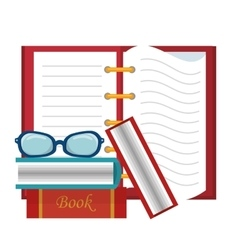 Book education isolated icon vector