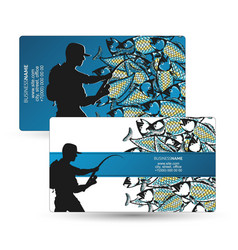 Business card for fishing vector
