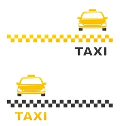 Business card with cab vector