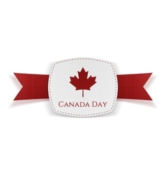 Canada day festive banner with ribbon vector