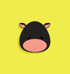 cartoon sheep face vector image