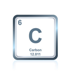 chemical element carbon from the periodic table vector image