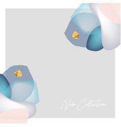 chic canvas print design gem stones background vector image