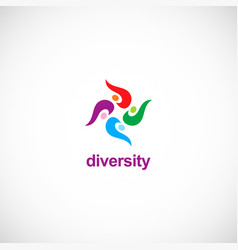 Circle people diversity logo vector