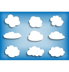 Cloud collection vector image