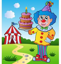 clown theme picture 1 vector image