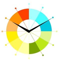Creative clock design vector image
