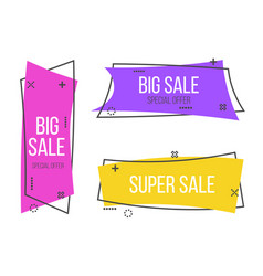 creative of promotion ribbon vector image