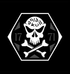 crossbones old skull symbol vector image