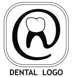dental logo teeth vector image