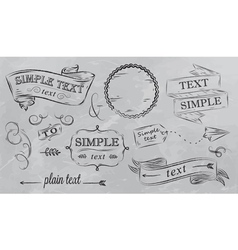 Design elements in grey color vector image
