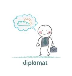 Diplomat dreaming of sunshine vector