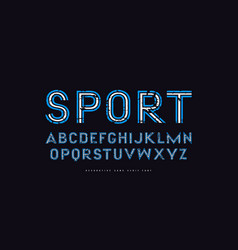 Display sans serif font in pop art style vector