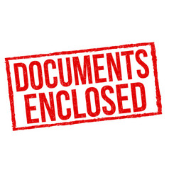 Documents enclosed sign or stamp vector