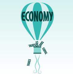 Economy and taxes vector image