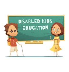 Education Of Disabled Kids vector image