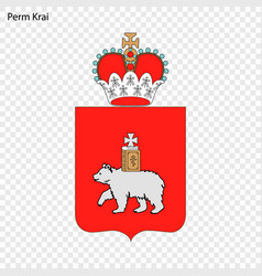 Emblem of province of russia vector