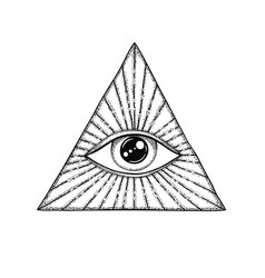 eye providence masonic symbol all seeing vector image