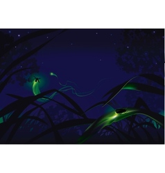 Fireflies vector