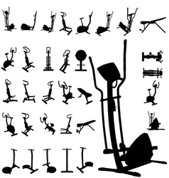 fitness equipment vector image