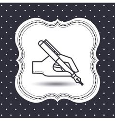 flat line icon design vector image