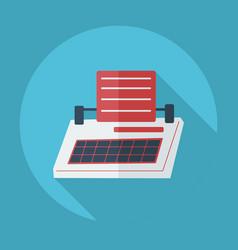 Flat modern design with shadow icon typewriter vector
