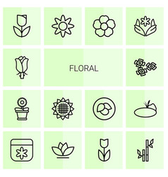 Floral icons vector