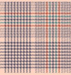 Glen plaid pink pattern vector