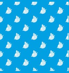 Gooseberry pattern seamless blue vector
