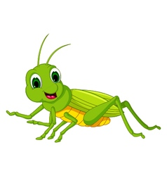 green locust cartoon vector image