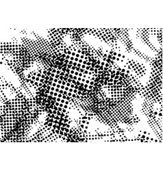 Halftone dotted distressed grungy abstract vector