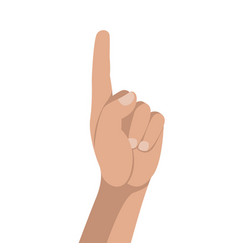 hand gestures flat style vector image