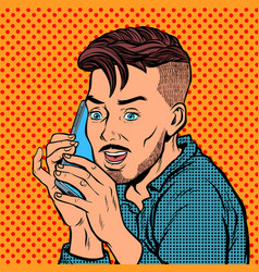 Hipster talking on the phone vector