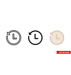history clock icon 3 types isolated vector image