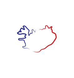 Iceland map logo icon symbol element vector