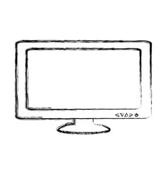 Isolated pc screen vector